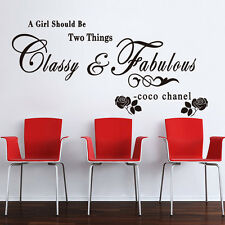 """una chica debe ser dos cosas.."" Cita para niñas damas Pegatinas de pared Calcomanías"