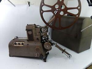 Vtg. Ampro Premier 20 16MM Film Projector/Amplifier w/Reel & Case - Functional