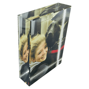 Personalised Photo Crystal Glass Block - Your Picture Custom Printed