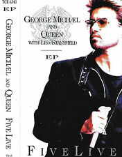 GEORGE MICHAEL QUEEN LISA STANSFIELD FIVE LIVE CASSETTE EP House Soft Rock Pop