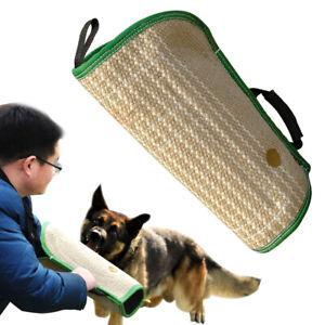 Dog Bite Training Sleeve Tug Protection Jute Left Right Arm Hands Suit Handle K9