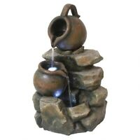 LaTaverna Cascading Urn Illuminated Design Toscano Hand Finished Garden Fountain