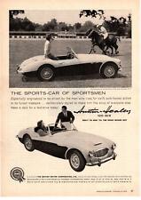 1959 Austin Healey 100-6 BMC Blind Brook Polo Club Purchase New York Print Ad