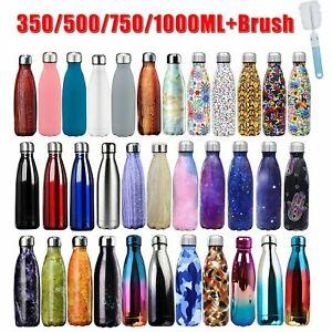 Edelstahl Trinkflasche Isolierflasche Wasserflasche Thermosflasche Flask 0,35-1L