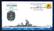 Battleship USS IOWA BB-61 Crew Reunion Handpainted Everett Naval Cover (4160x)