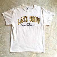 PLS READ Late Show with David Letterman T Shirt White Unisex Mens Size Medium