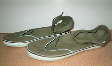 Ladies Canvas USA Size 9 Flat Casual Shoe Ankle Strap Shoes Beach Closed Toe