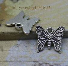 25/100pcs Alloy exquisitely beautiful dance in the air butterfly charm pendant