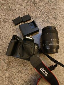 Canon EOS 77D Camera and 18-135mm Lens