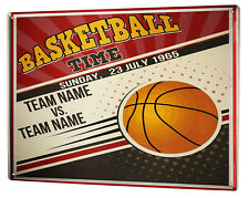 Tin Sign XXL Sports  Basketball