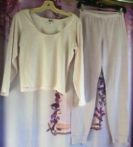 2-Pc PATAGONIA Capilene Baselayer Set Long-Sleeve Tee/Pant Woman L/XL