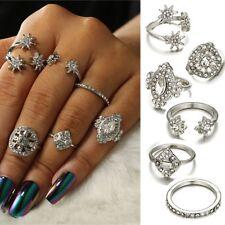 Wedding Stars Midi Finger Ring Set for Women Vintage Boho Knuckle Rings Punk