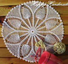 HaHa White Cotton Crochet 35cm (13.7 inch) Large Doily / wedding / vintage