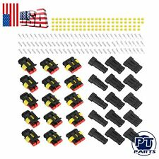 15SET 12Amp 2-Way 2/3/4 Pin Car Super Seal Waterproof Wire Connector Plug