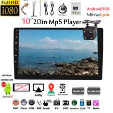 10''2 Din Android GPS Autoradio+CAM FM Wifi Airplay iOS Mirror Link Touch BT DVR