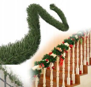 Weihnachtsgirlande Tannengirlande 5m Künstlich Außen Girlande Weihnachtsdeka