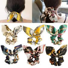 Wholesale Floral Printed Bow Streamer Scrunchies With Pearl Hair Rope Hair Ties