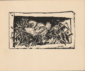 PABLO PICASSO - YOUNG DOVE * RARE EAST GERMAN GDR HELIOGRAPHY 1956