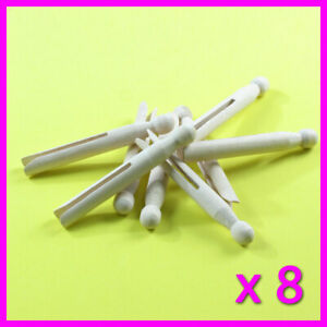 x 8 Wooden Dolly Pegs Traditional Clothes Line Washing very good quality peg