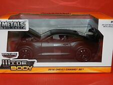 Jada 1/24 Big Time Muscle 2016 Chevy Camaro SS Flat Black/Black Stripes MiB