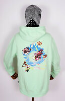 Huf Sweatshirt Hooded Pullover Hoodie Come Down Triple Triangle Neo Mint in M