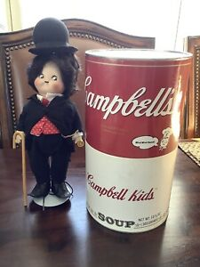 Campbell Kids CHARLIE CHAPLIN The Little Tramp Porcelain Doll with can 1995