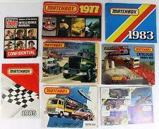 8 Assorted Vintage Matchbox Models Catalogues
