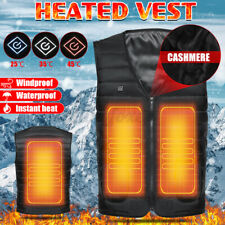 Electric USB Vest Heated Jacket Coat Warm Up Heat Pad Cloth Body Warmer 3 Gear