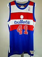 NBA Washington Bullets Unseld 41 Hardwood classics Jersey Size Medium RARE