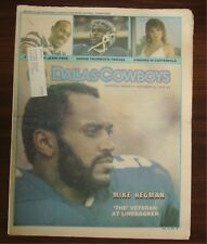DALLAS COWBOYS WEEKLY~10/5/85~MIKE HEGMAN COVER ~ WITH CHEERLEADER CENTERFOLD