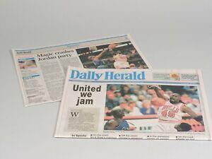 Chicago Bulls Michael Jordan 1st Game at United Center - Daily Herald  3/25/1995