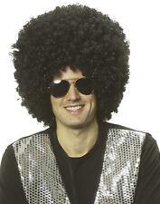 Super Afro Men'S Black Curly 1970'S Disco Clown Adult Costume Wig