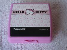 66385e4656 Tupperware Hello Kitty Sandwich keeper school lunches Pink Black white