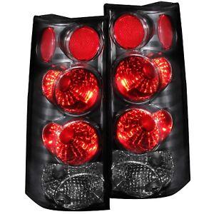 ANZO Tail Lights Black For 03-14 Chevy Express / GMC Savana Van #211090