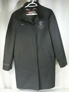NIKE Vancouver 2010 Olympics Club 3/4 LINED JACKET Coat, Men's M, Black EUC