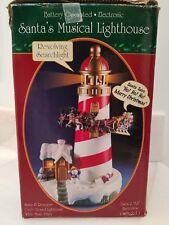 Santas Magical Lighthouse Santa And Reindeer Circle Lighthouse Music Lights Up