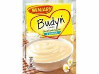 Winiary Budyn Smietankowy z Cukrem Cream Pudding Mix with Sugar 60g Bag (5-Pack)