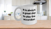 Accordion Mug White Coffee Cup Funny Gift for Musician, Best Ever Player