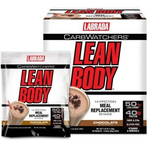 Labrada Lean Body - Carb Watchers Chocolate - Box of 20 Packets - 2.29 oz Each