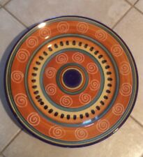 "Pier 1 Italian Swirl-Italy-orange Blue & Yellow Bands-14"" Chop Plate/Platter"