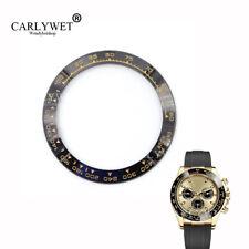 TOP GRADE Black/Gold Ceramic Bezel Insert For Daytona Watches 116500 116520