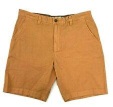 Grayers Men's Camel Tan Bermuda Cotton Linen Blend Shorts Size 38W  New