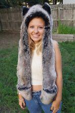 SpiritHoods Kids gray wolf bear Spirit Hood Faux Fur Hat