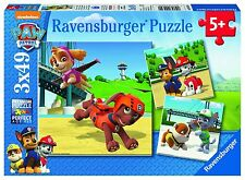 Paw Patrol-Ravensburger 3 X 49 Pièces Puzzles * Brand New *