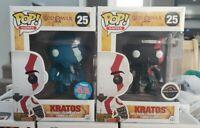 Funko Pop God Of War Kratos 25 Blue Nycc + FEAR Gamestop Exclusives