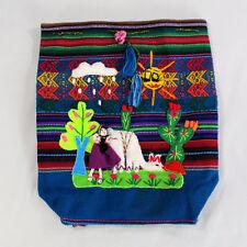 Mini Backpack Purse Multi-Color Acrylic BoHo Made in Peru Souvenir