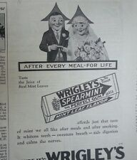 1929 Wrigleys Double Mint Chewing Gum After Every Meal for Life Original  Ad