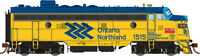 Rapido GMD FP7 Ontario Northland ONR Chevron #1515 DCC w/ sound -HO Scale