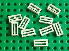 10 x LEGO white Tile 1 x 2 Grille 2412b / Set 3842 10152 7239 7665 10212 8037...
