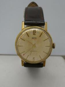Vintage Men's British Made Smiths 21 jewel Manual Wind Wrist Watch, working